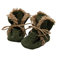 baBice shoes capáčky kožené Winter shoes green