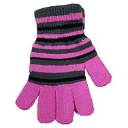 Dětské rukavice D506 pruhované růžové 99413d1e39