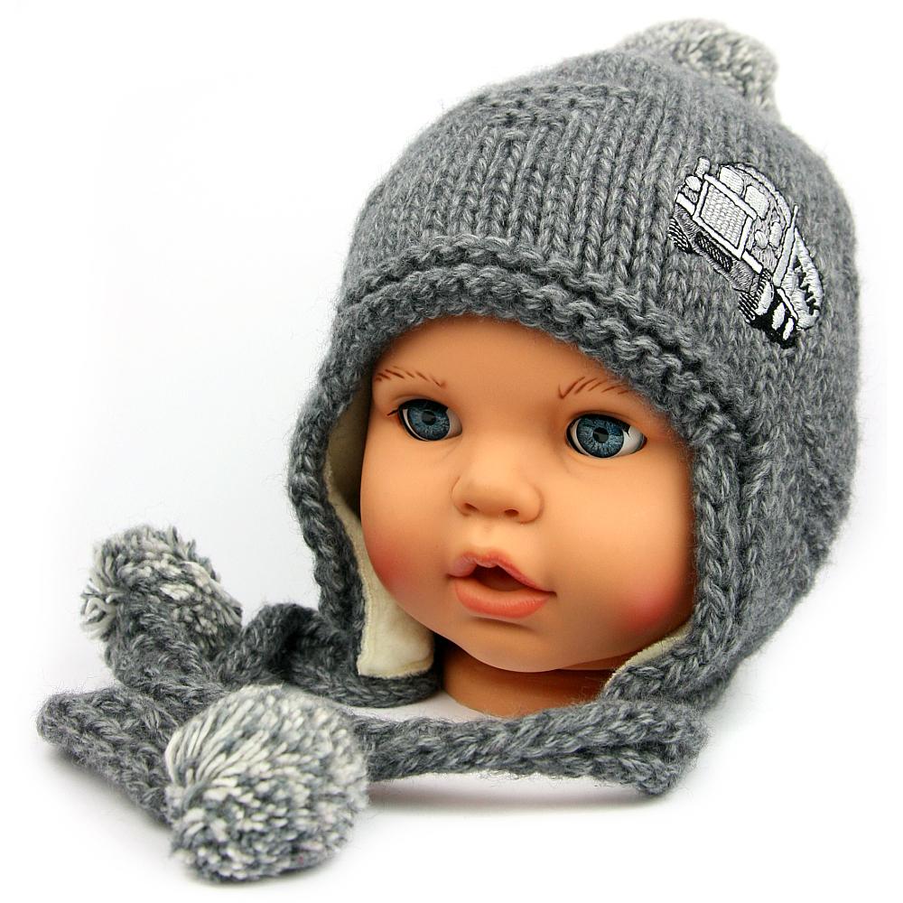 d40ee809ef6 Dětská zimní čepice 4979 šedá