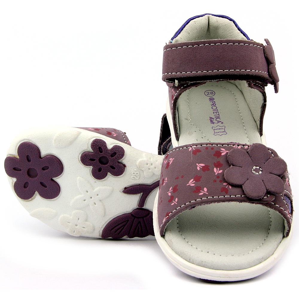 1ee04085e8ba Protetika dětské sandály Rinore lila