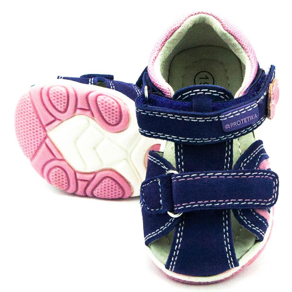 e53f5aadf9dc Protetika dětské sandály Talisa lila