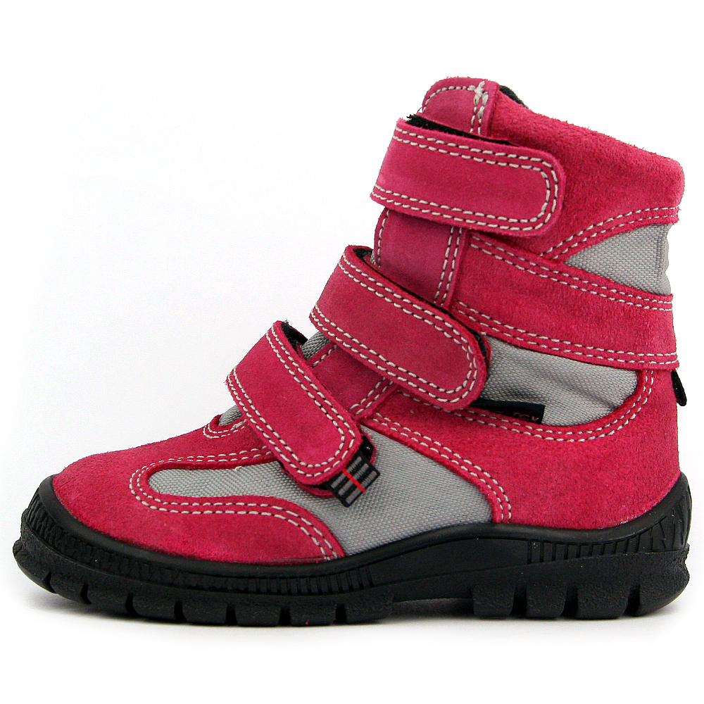 af184956a45 Jas-Tex dětské zimní boty T1013 magenta-šedá