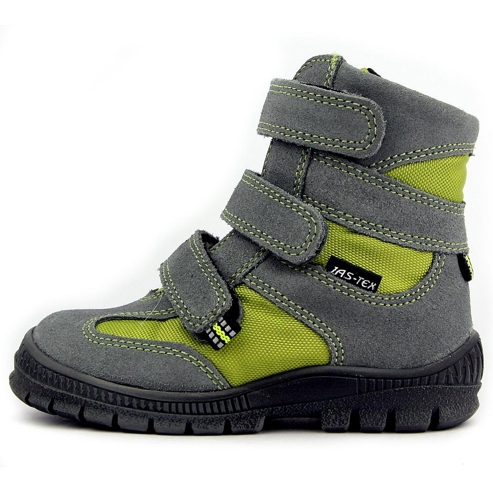 6e4032d4657 Jas-Tex dětské zimní boty T1013 šedá-zelená