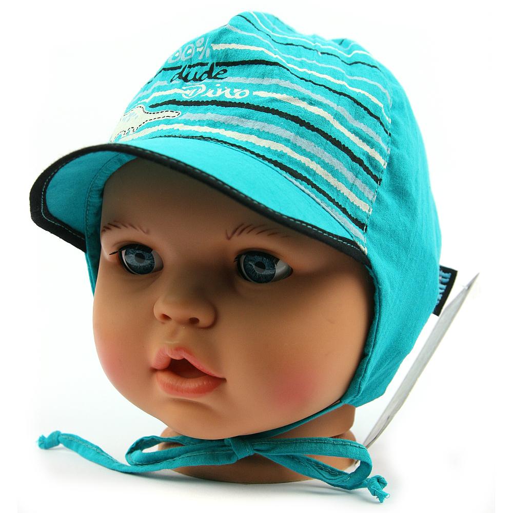 Dětská letní čepice 7353 tyrkysová  cebac92030