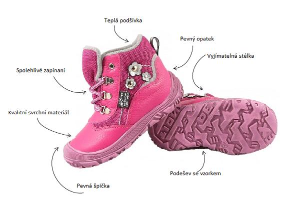 kvalitní dětská zimní obuv eb025fe227