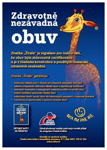 boty s certifikátem žirafa f7cee7c816